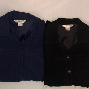 2 Allison Daley long sleeve button down shirts